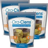 Image of 3-PACK Ora-Clens Oral Hygiene Chews Medium (90 Chews)