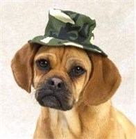 """Image of Casual Canine Green Camo Bucket Hat Large (7"""")"""