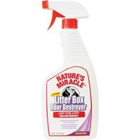 Image of Nature's Miracle Ultimate Litter Box Odor Destroyer Spray for Cats (24 oz)