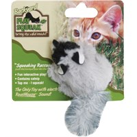 Image of OurPets Play-N-Squeak Backyard Friend Cat Toy - Raccoon