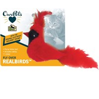 Image of OurPets Play-N-Squeak RealBirds Cat Toy - Fly Over