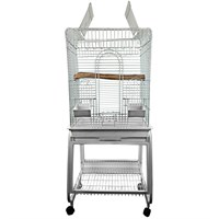 """Image of Play Top Bird Cage with Removable Stand - Platinum (22""""x18""""x62"""")"""