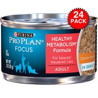 Image of Purina Pro Plan Focus - Balance Energy Canned Adult Cat Food (24x3oz)