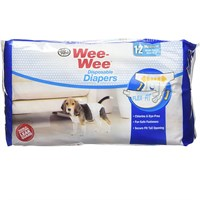 Image of Four Paws Wee-Wee Dog Diapers Medium (12 diapers)