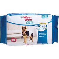 Image of Four Paws Wee-Wee Dog Diapers X-Large (12 diapers)