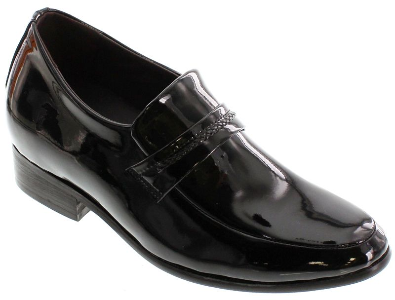 CALDEN - K18132 - 2.6 Inches Taller (Black Patent Leather) - Lightweight Height Increasing Elevator Shoes