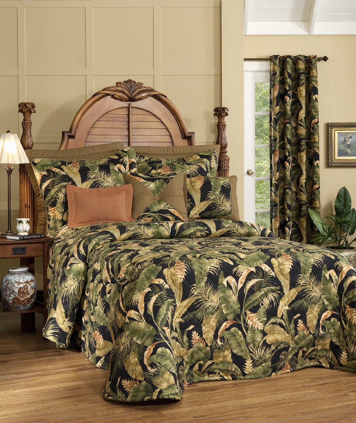 Quilted Bedspread - La Selva Black by Thomasville