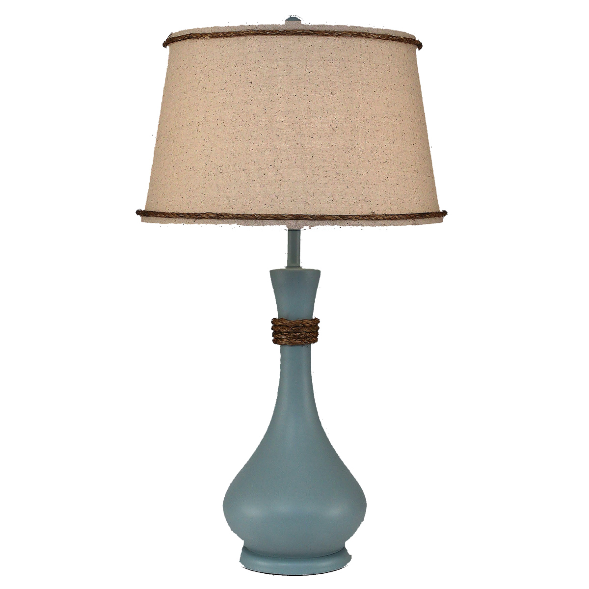 Atlantic Gray Genie Bottle Pot Accent Lamp with Rope