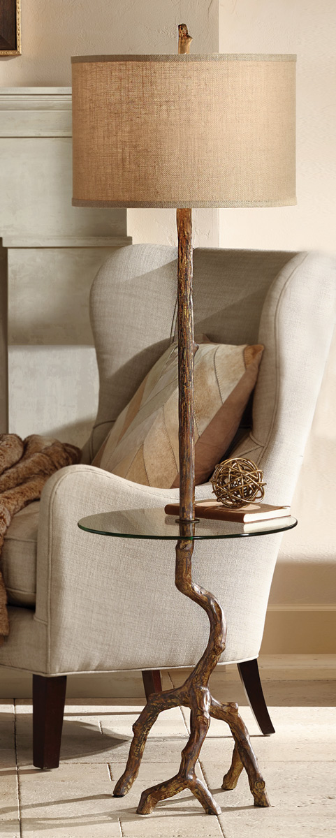 Black Forest Decor Driftwood Lake Floor Lamp