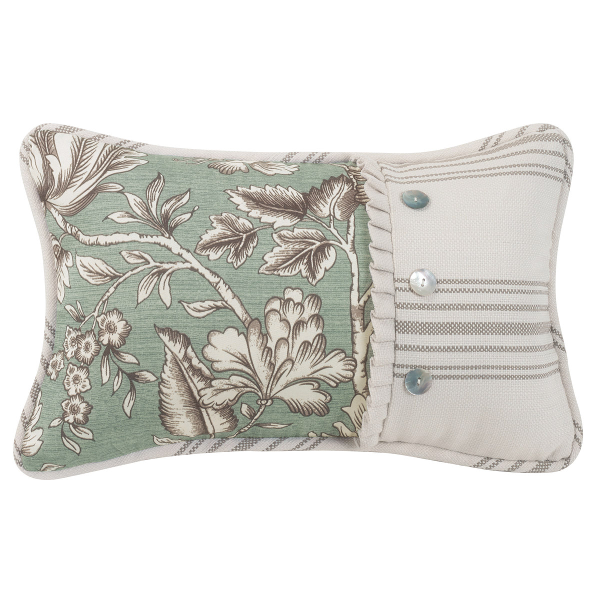 Gramercy Printed Floral Pieced Accent Pillow