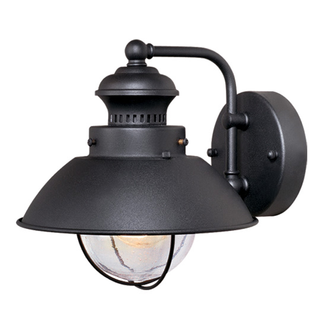 Vaxcel Lighting Harwich Black Outdoor Wall Sconce - 8 Inch