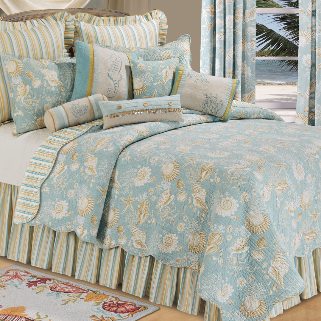 Sand Shell Beach Quilt - Twin