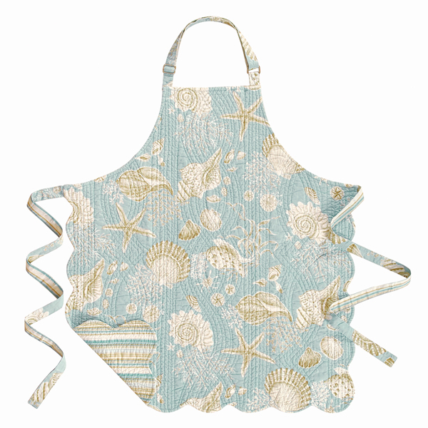 Natural Shells Reversible Quilted Apron