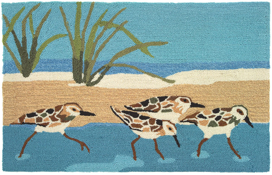 Oceanside Sandpipers Accent Rug