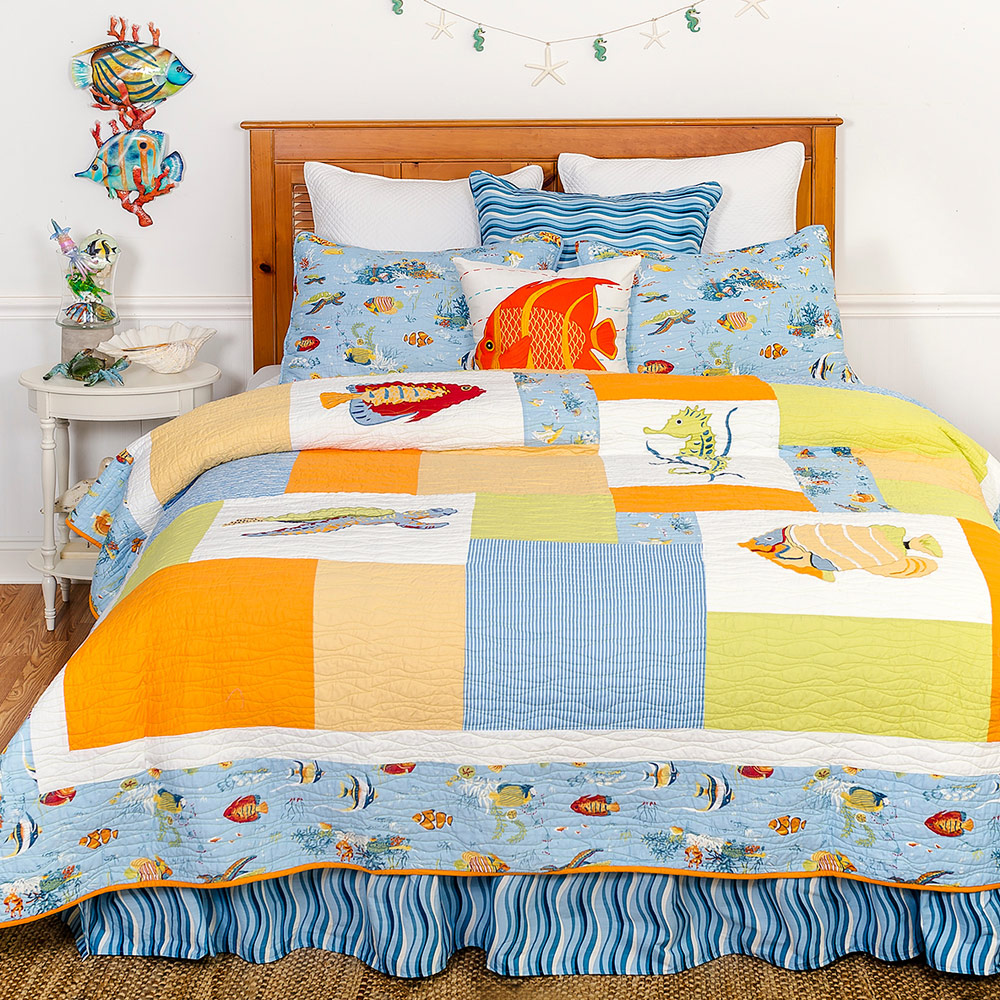 Tropical Sea Quilt - King
