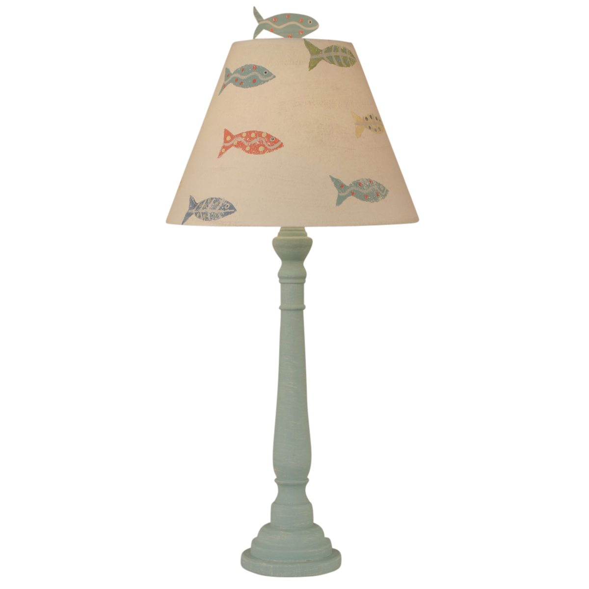 Shaded Cove Round Buffet Lamp with Fish Shade