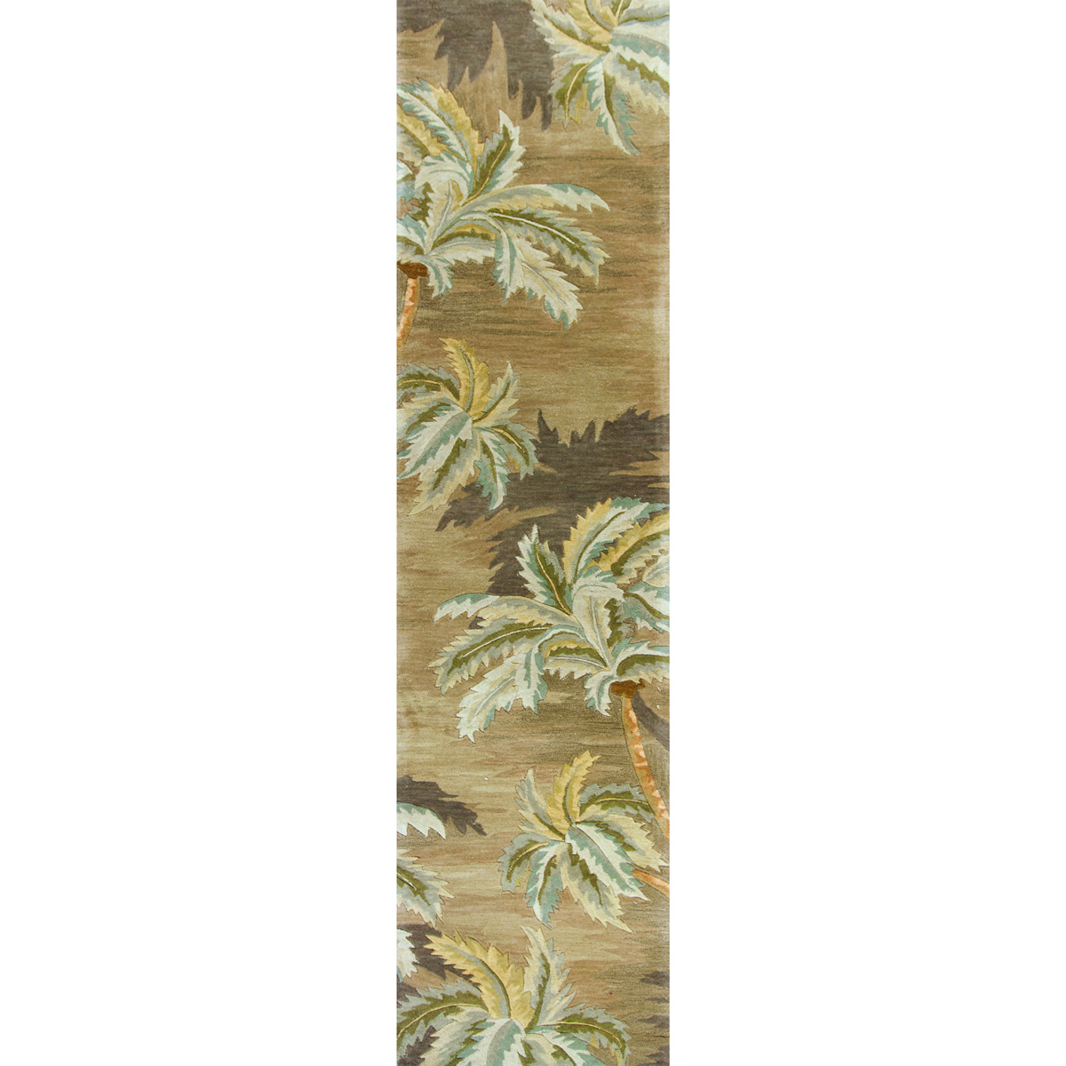 Sparta Moss Palm Trees Rug - 3 x 10