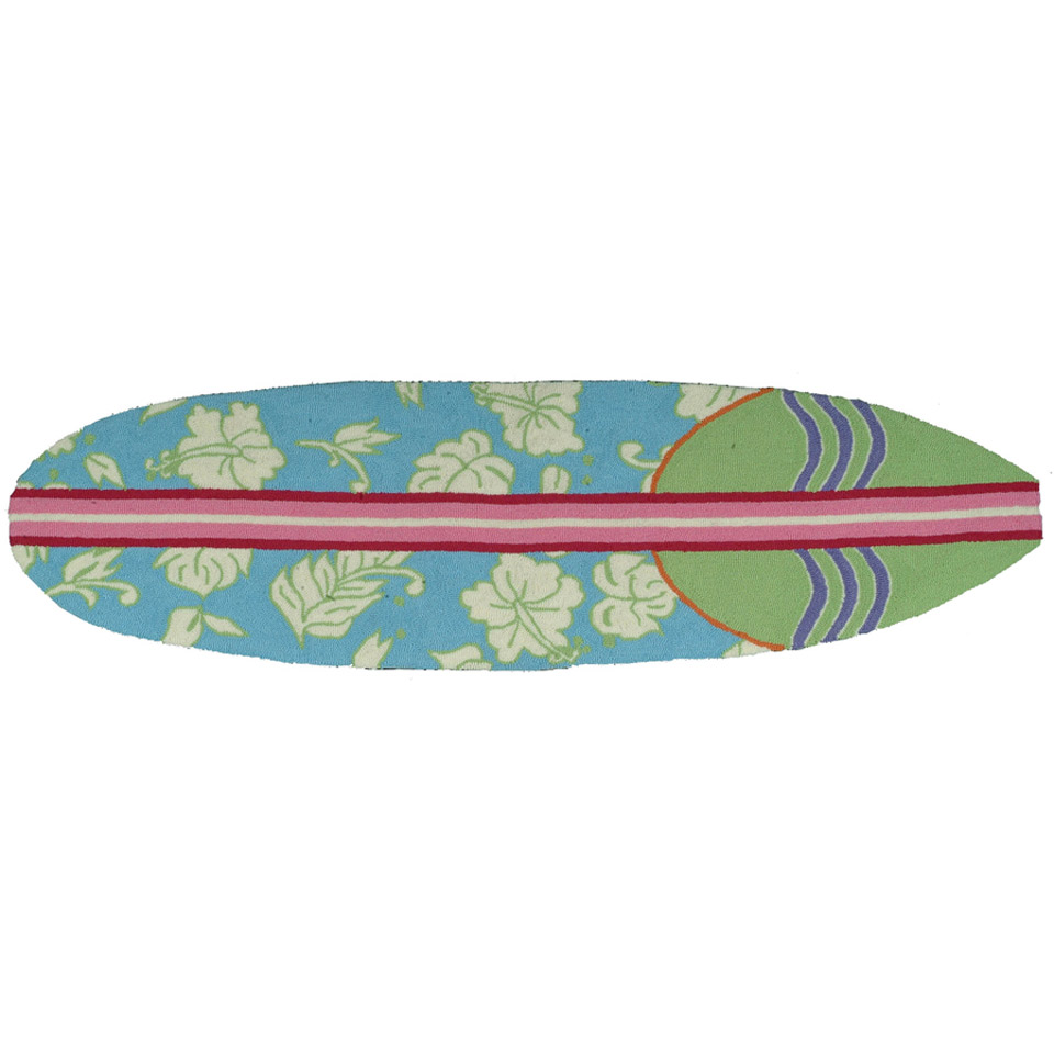 High Tide Surfboard Accent Rug