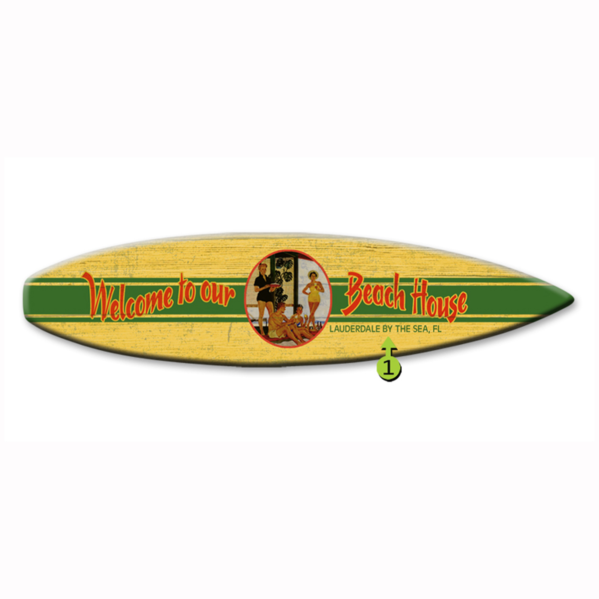 Welcome to Our Beach House Surfboard Wood Personalized Si...