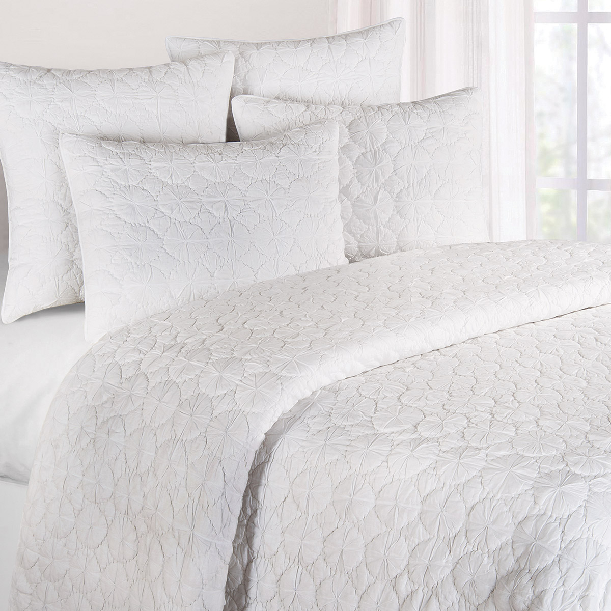 White Mara Full/Queen Quilt