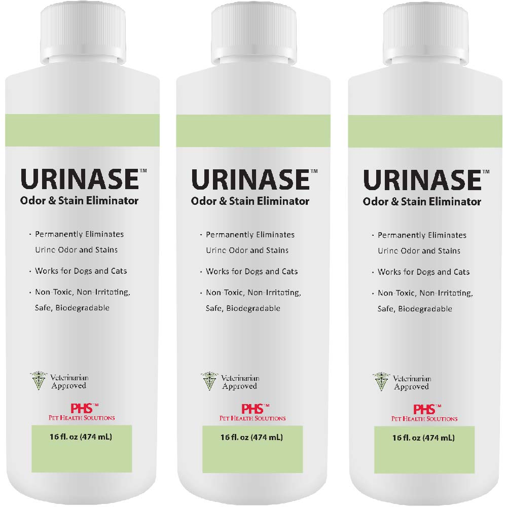3-PACK URINASE™ Odor & Stain Eliminator (48 fl oz)